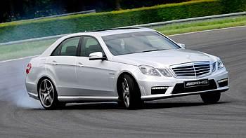 Mercedes-Benz rolls out its sports sedan car E 63 AMG.