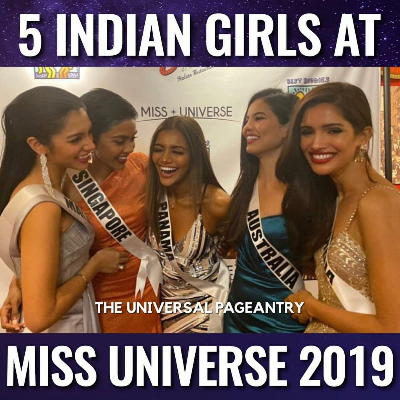 For the first time, five Indian girls took part in Miss Universe 2019 competition