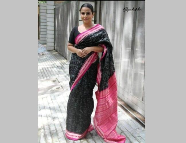 vidya-balan-promotes-sambalpuri-saree
